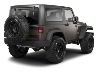 Dark Charcoal Pearl 2010 Jeep Wrangler Pictures Wrangler Utility 2D Sport 4WD photos rear view