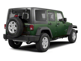 Natural Green Pearl 2010 Jeep Wrangler Unlimited Pictures Wrangler Unlimited Utility 4D Unlimited Sport 4WD photos rear view