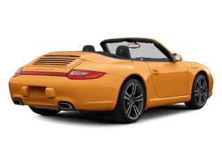 Nordic Gold Metallic 2010 Porsche 911 Pictures 911 Cabriolet 2D Turbo AWD photos rear view