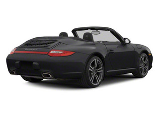 Black 2010 Porsche 911 Pictures 911 Cabriolet 2D Turbo AWD photos rear view