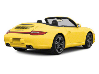 Speed Yellow 2010 Porsche 911 Pictures 911 Cabriolet 2D Turbo AWD photos rear view