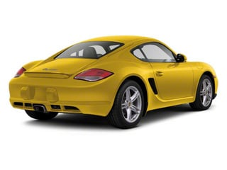 Speed Yellow 2010 Porsche Cayman Pictures Cayman Coupe 2D photos rear view
