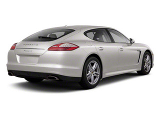 Platinum Silver Metallic 2010 Porsche Panamera Pictures Panamera Hatchback 4D Turbo AWD photos rear view