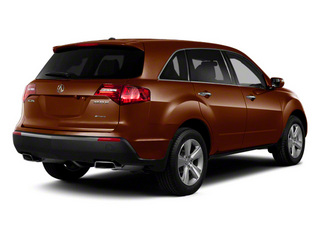 Ionized Bronze Metallic 2011 Acura MDX Pictures MDX Utility 4D Advance DVD AWD photos rear view