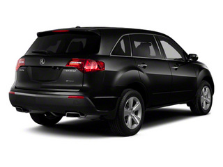 Crystal Black Pearl 2011 Acura MDX Pictures MDX Utility 4D Advance DVD AWD photos rear view