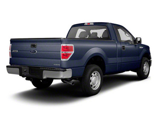 Dark Blue Pearl Metallic 2011 Ford F-150 Pictures F-150 Regular Cab XLT 2WD photos rear view