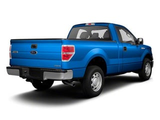 Blue Flame Metallic 2011 Ford F-150 Pictures F-150 Regular Cab XLT 2WD photos rear view