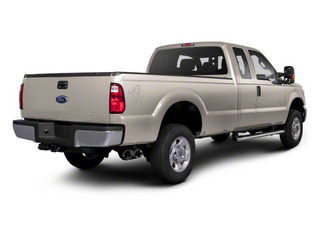 White Platinum Metallic Tri-Coat 2011 Ford Super Duty F-350 DRW Pictures Super Duty F-350 DRW Supercab Lariat 4WD photos rear view