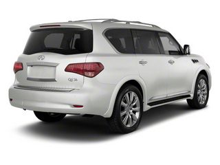 Moonlight White 2011 INFINITI QX56 Pictures QX56 Utility 4D 4WD photos rear view