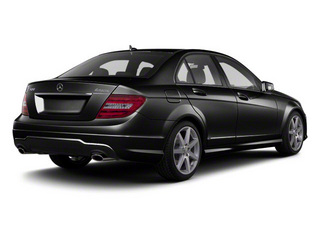 Black 2011 Mercedes-Benz C-Class Pictures C-Class Sport Sedan 4D C350 photos rear view