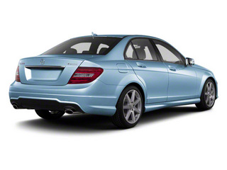 Quartz Blue Metallic 2011 Mercedes-Benz C-Class Pictures C-Class Sport Sedan 4D C350 photos rear view