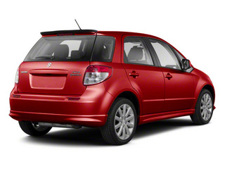 Vivid Red 2011 Suzuki SX4 Pictures SX4 Hatchback 5D photos rear view