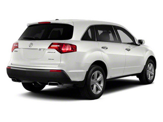 Aspen White Pearl II 2012 Acura MDX Pictures MDX Utility 4D Technology AWD photos rear view