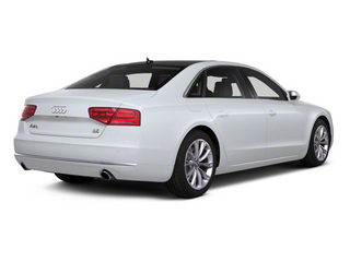 Glacier White Metallic 2012 Audi A8 L Pictures A8 L Sedan 4D 4.2 Quattro L photos rear view