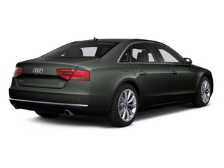 Emerald Black Metallic 2012 Audi A8 L Pictures A8 L Sedan 4D 4.2 Quattro L photos rear view