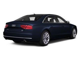 Night Blue Pearl 2012 Audi A8 L Pictures A8 L Sedan 4D 4.2 Quattro L photos rear view