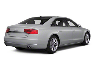 Quartz Gray Metallic 2012 Audi A8 L Pictures A8 L Sedan 4D 4.2 Quattro L photos rear view