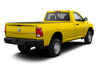 Yellow 2012 Ram Truck 2500 Pictures 2500 Regular Cab SLT 4WD photos rear view