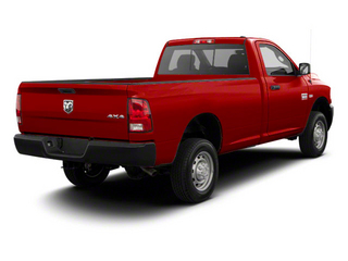 Flame Red 2012 Ram Truck 2500 Pictures 2500 Regular Cab SLT 2WD photos rear view