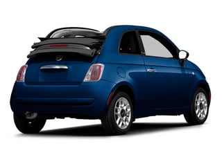 Azzurro (Blue) 2012 FIAT 500 Pictures 500 Convertible 2D Lounge photos rear view