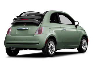 Verde Chiaro (Light Green) 2012 FIAT 500 Pictures 500 Convertible 2D Lounge photos rear view