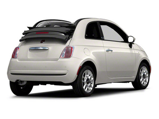 Bianco (White) 2012 FIAT 500 Pictures 500 Convertible 2D Lounge photos rear view