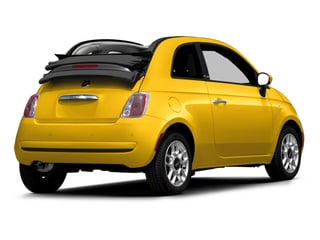 Giallo (Yellow) 2012 FIAT 500 Pictures 500 Convertible 2D Lounge photos rear view