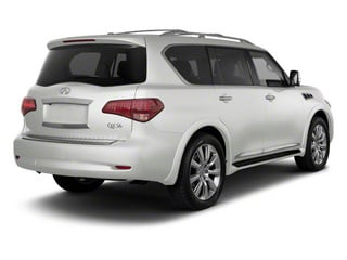 Moonlight White 2012 INFINITI QX56 Pictures QX56 Utility 4D 2WD photos rear view