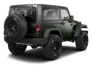Black Forest Green Pearl 2012 Jeep Wrangler Pictures Wrangler Utility 2D Sahara 4WD photos rear view