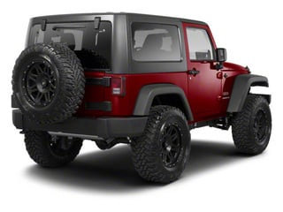 Deep Cherry Red Crystal Pearl 2012 Jeep Wrangler Pictures Wrangler Utility 2D Sahara 4WD photos rear view