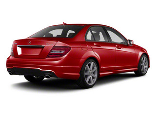 Mars Red 2012 Mercedes-Benz C-Class Pictures C-Class Sedan 4D C63 AMG photos rear view