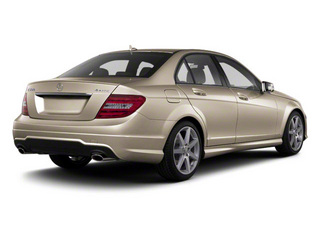 Pearl Beige Metallic 2012 Mercedes-Benz C-Class Pictures C-Class Sedan 4D C63 AMG photos rear view