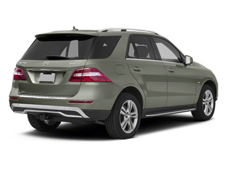 Palladium Silver Metallic 2012 Mercedes-Benz M-Class Pictures M-Class Utility 4D ML350 BlueTEC AWD photos rear view