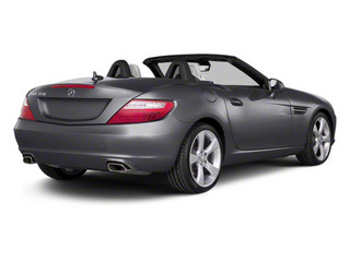 Palladium Silver Metallic 2012 Mercedes-Benz SLK-Class Pictures SLK-Class Roadster 2D SLK350 photos rear view