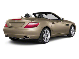 Pearl Beige Metallic 2012 Mercedes-Benz SLK-Class Pictures SLK-Class Roadster 2D SLK350 photos rear view