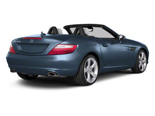 Lunar Blue Metallic 2012 Mercedes-Benz SLK-Class Pictures SLK-Class Roadster 2D SLK350 photos rear view