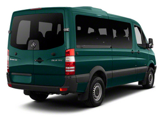 Aqua Green 2012 Mercedes-Benz Sprinter Passenger Vans Pictures Sprinter Passenger Vans Passenger Van High Roof photos rear view