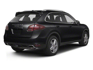 Black 2012 Porsche Cayenne Pictures Cayenne Utility 4D Turbo AWD (V8) photos rear view