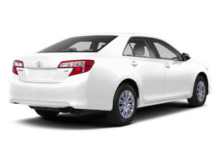 Super White 2012 Toyota Camry Pictures Camry Sedan 4D LE photos rear view