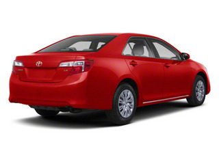Barcelona Red Metallic 2012 Toyota Camry Pictures Camry Sedan 4D LE photos rear view
