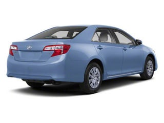 Clearwater Blue Metallic 2012 Toyota Camry Pictures Camry Sedan 4D LE photos rear view