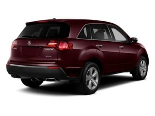 Dark Cherry Pearl 2013 Acura MDX Pictures MDX Utility 4D Technology AWD V6 photos rear view