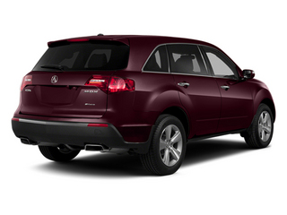 Dark Cherry Pearl 2013 Acura MDX Pictures MDX Utility 4D Technology DVD AWD V6 photos rear view