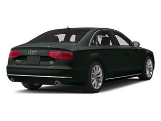 Emerald Black Metallic 2013 Audi A8 L Pictures A8 L Sedan 4D 6.3 L AWD W12 photos rear view