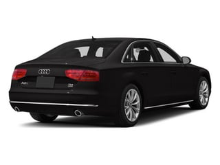 Oolong Grey Metallic 2013 Audi A8 L Pictures A8 L Sedan 4D 6.3 L AWD W12 photos rear view