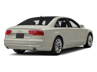 Ice Silver Metallic 2013 Audi A8 L Pictures A8 L Sedan 4D 3.0T L AWD V6 Turbo photos rear view