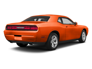 Hemi Orange Pearl 2013 Dodge Challenger Pictures Challenger Coupe 2D SRT-8 Core V8 photos rear view