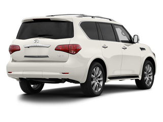 Moonlight White 2013 INFINITI QX56 Pictures QX56 Utility 4D 2WD photos rear view