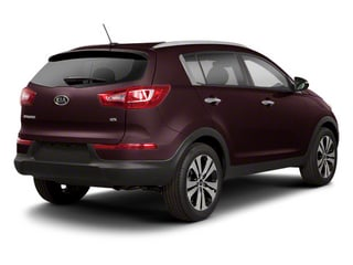 Black Cherry 2013 Kia Sportage Pictures Sportage Utility 4D LX 2WD I4 photos rear view
