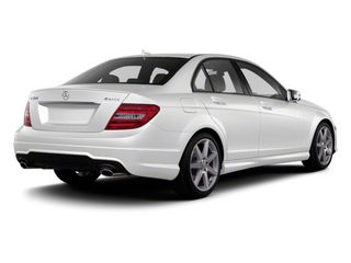 Polar White 2013 Mercedes-Benz C-Class Pictures C-Class Sport Sedan 4D C250 photos rear view